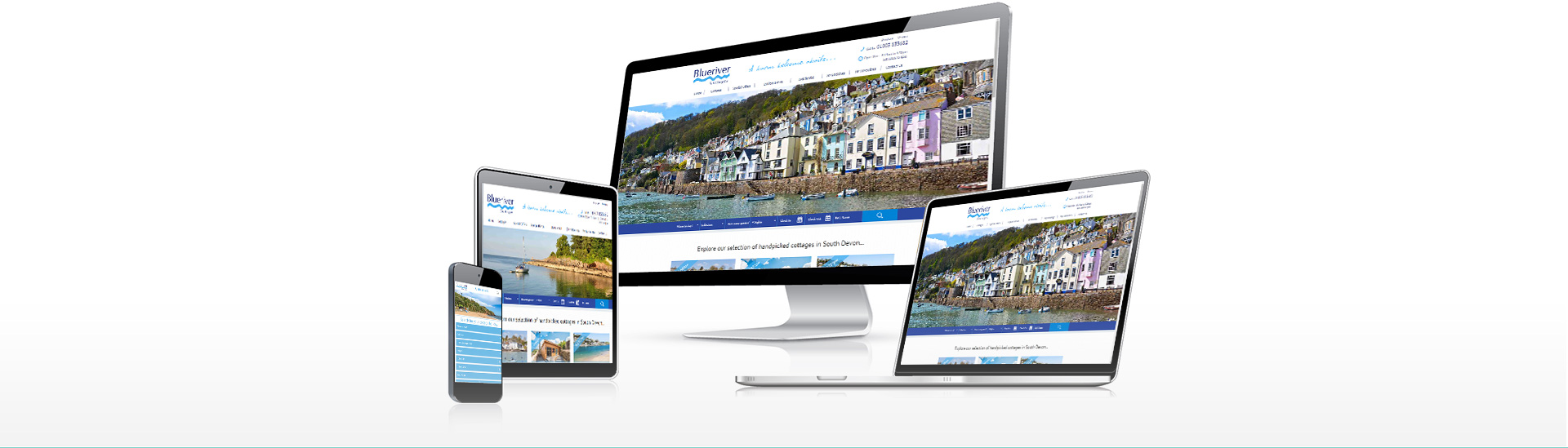 blue river responsive website