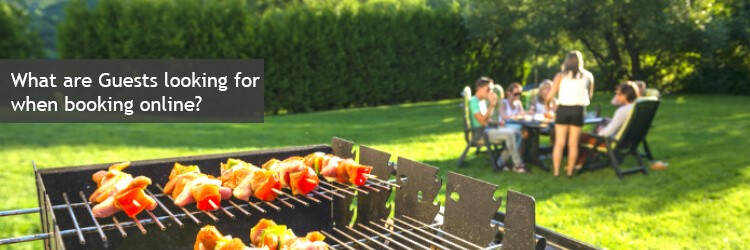 booking accommodation online bbq as an extra