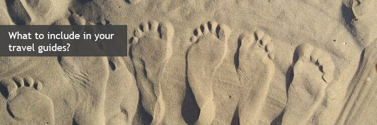 travel guides feet in sand