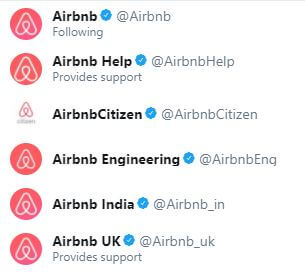 Airbnb Twitter Profiles