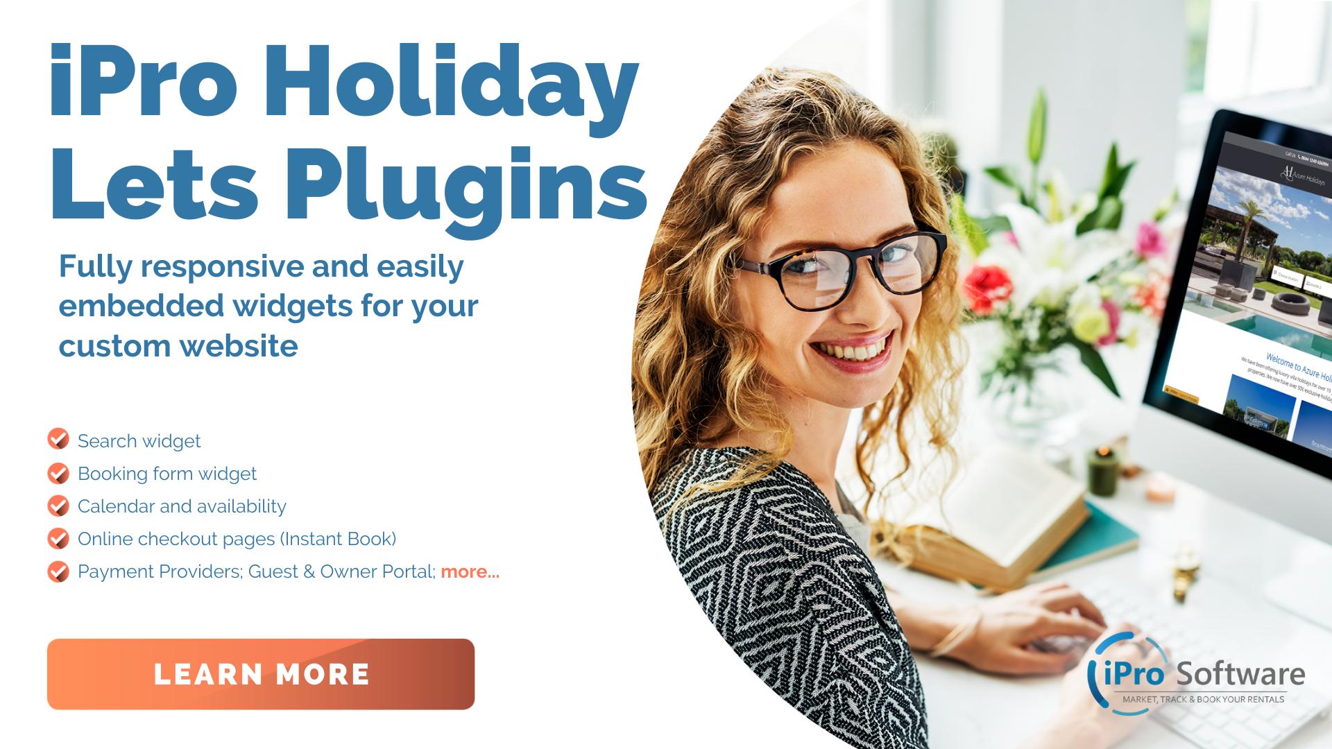 Holiday lets website plugins