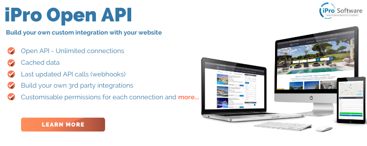 iPro Open API - Integrate your own vacation rental website